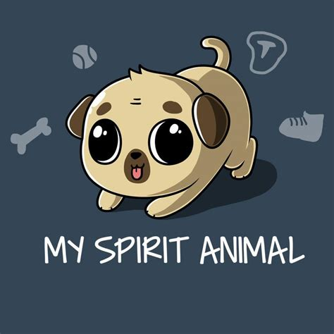 Tees Spirit Animal my spirit animal pug t shirt teeturtle teeturtle