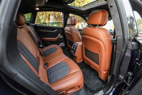 maserati levante interior back seat 2018 maserati levante s review