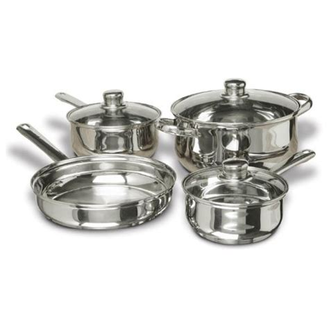 Wajan Stainless Steel stainless steel pots and pans set 7 bachelor on a budget