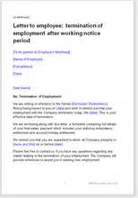 Formal Letter Template Nz Letter To Employee Terminating Employment After Notice Period