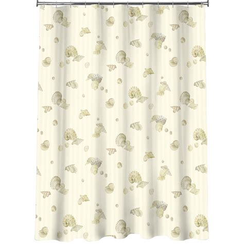 pearl curtains essential home pearl shells bath rug home bed bath