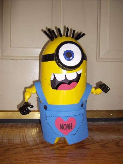 how to make a minion valentines day box minion box made from 3 liter pop bottle