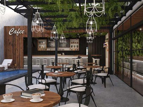 design coffee shop outdoor interior design aiviz studio