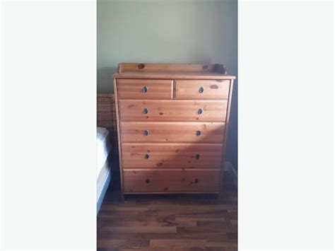ikea solid pine 6 drawer chest dresser mill bay cowichan