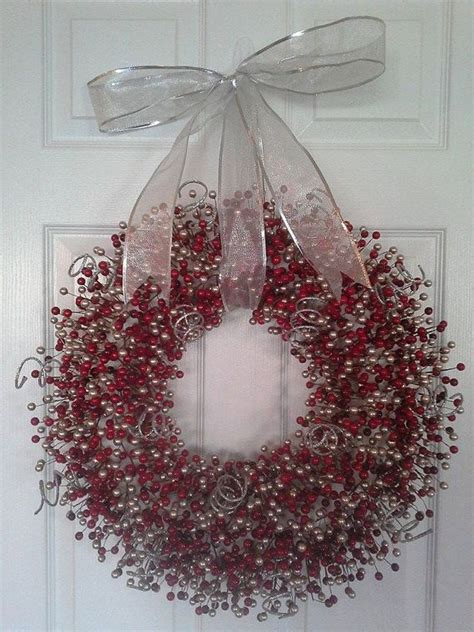 christmas bead wreath christmas wreath