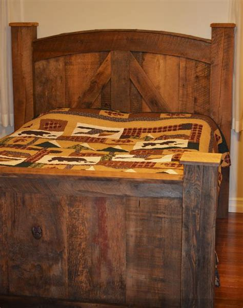 barn board headboard twobertis barn board bed frame with posts this beautiful bed frame