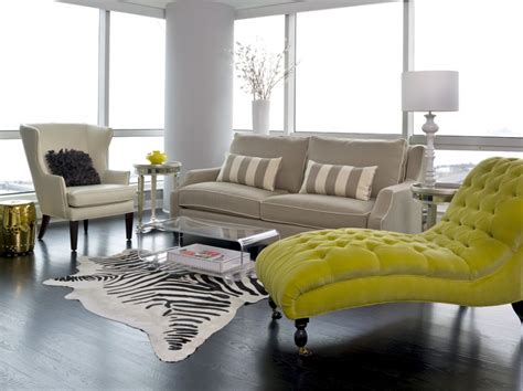 chaise lounge living room arrangement striped pillows in cozy transitional living room ideas