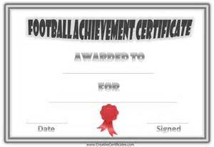 Football Certificates Templates Free Custom Football Certificates
