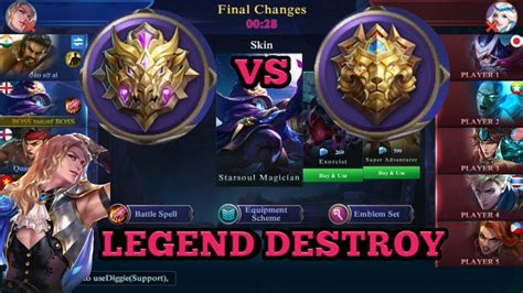mythic  legend mobile legend  play solo
