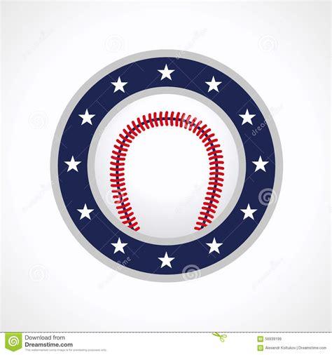 baseball emblem logo stock vector image 56939199