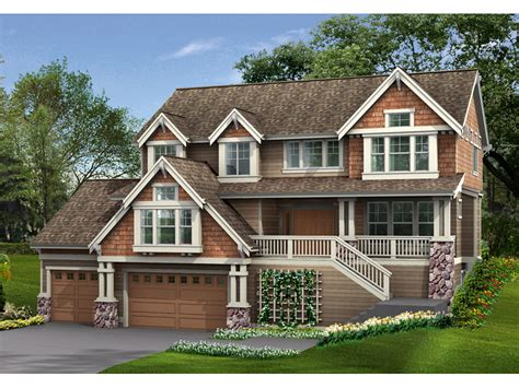 multi level house plans fremont place craftsman home plan 071d 0128 house plans