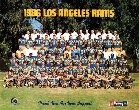 los angeles rams roster los angeles rams 1986 nfl