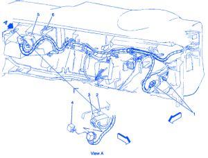 chevrolet blazer  door   passenger side  dash electrical circuit wiring diagram