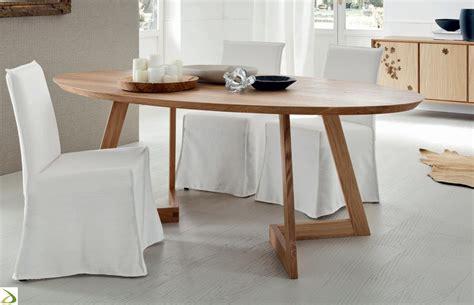 tavoli in legno massello moderni tavolo ovale in massello torero arredo design