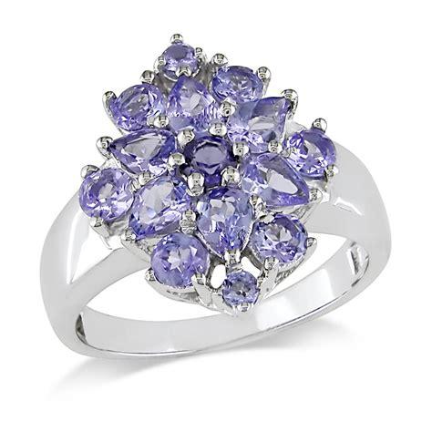 miadora sterling silver tanzanite flower ring jewelry