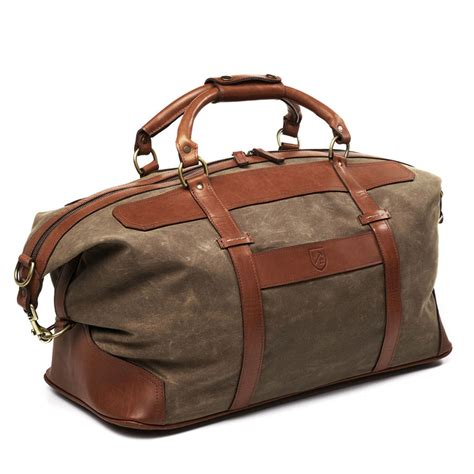 Travel Bag Kanvas 14 Canvas Leather Duffle By Allen Edmonds