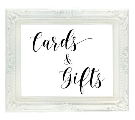 cards and gifts sign template 17 best ideas about gift table signs on