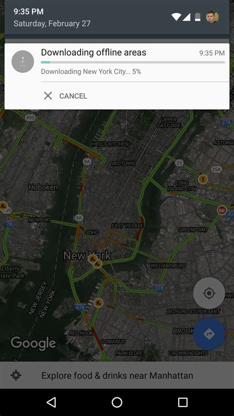 android offline maps saving offline areas in maps
