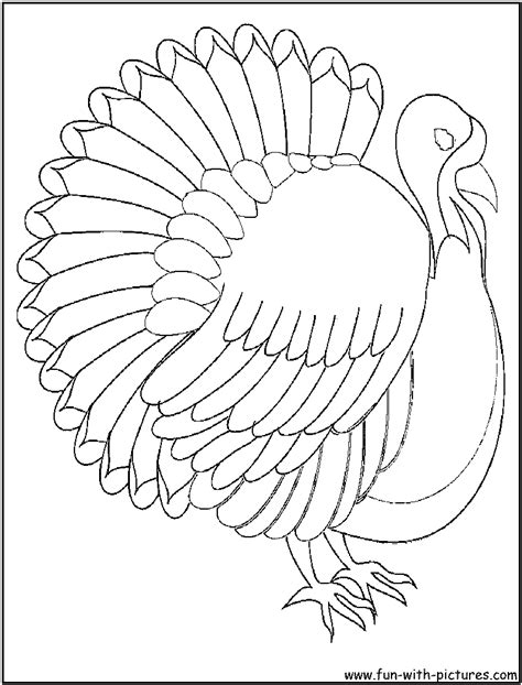 body of a turkey coloring pages