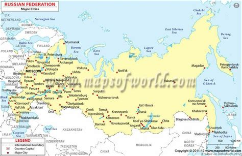 russia map and cities russia map with major cities