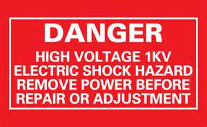 Proton Pack Labels Items Similar To Danger High Voltage 1kv Proton Pack