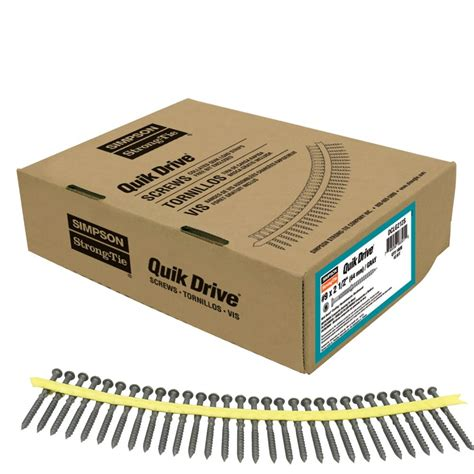 Box Quik 1 strong tie quik drive 9 x 2 1 2 inch quik guard gray collated composi lok 1 000