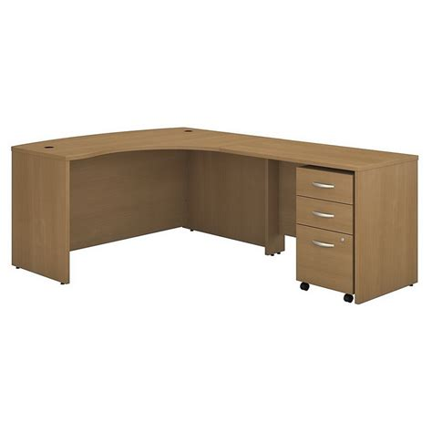 bush business series c 60 quot right 3 drawer l shaped desk in