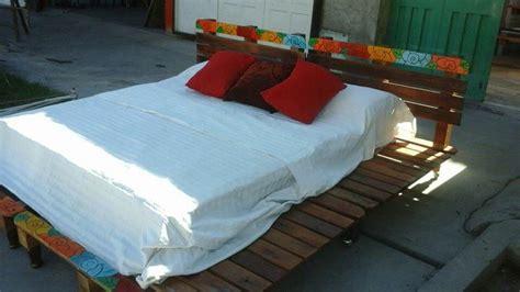 king size pallet bed rustic king size pallet bed pallet furniture diy