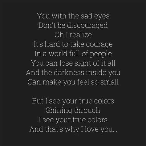in color lyrics cyndi lauper true colors lyrics true colors song