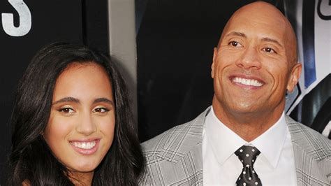 dwayne johnson the rock daughter dwayne johnson gets emotional while talking about his