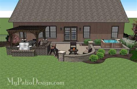 tub patio designs creative brick patio design with pergola and tub