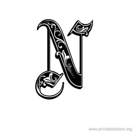 printable decorative fonts printable letter decorative n fonts brighton style
