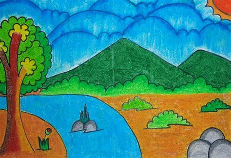 membuat poster kartun image gallery lukisan anak