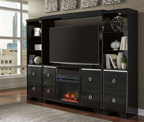 amrothi entertainment center with fireplace insert from