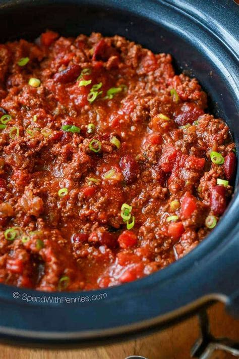 and easy crock pot recipes easy crock pot chili recipe spend with pennies