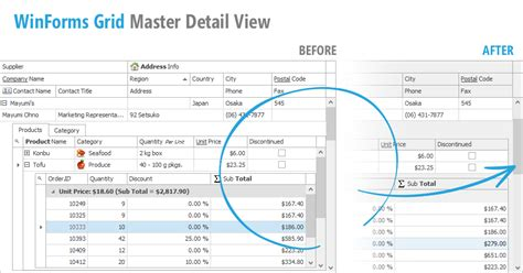 xtragrid layout view master detail winforms data grid master detail mode performance and ux
