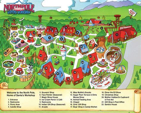 santa map facilities map pole colorado santa s workshop theme parknorth pole colorado santa