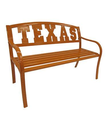 texas bench texas longhorns garden bench