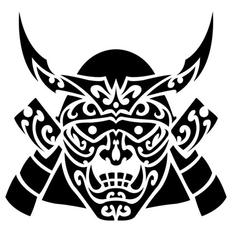 samurai tribal tattoo tribal samurai mask by shadow696 on deviantart