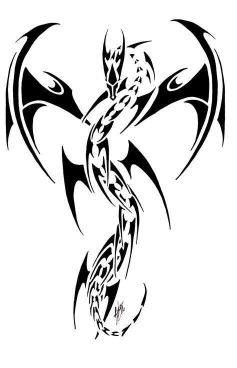 dragon tribal tattoo design tattoos designs ideas and meaning tattoos for you