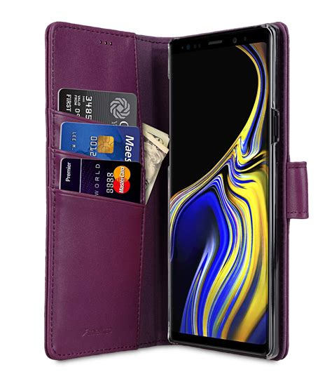 premium leather for samsung galaxy note 9 wallet book clear type stand
