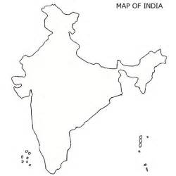 Blank Outline Political Map Of India by Blank Map