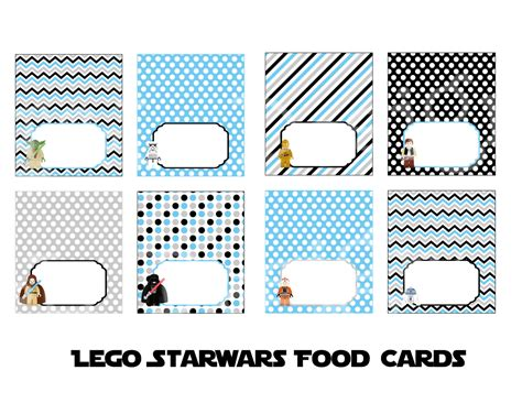 printable lego star wars birthday cards star wars food tent cards birthday party instant