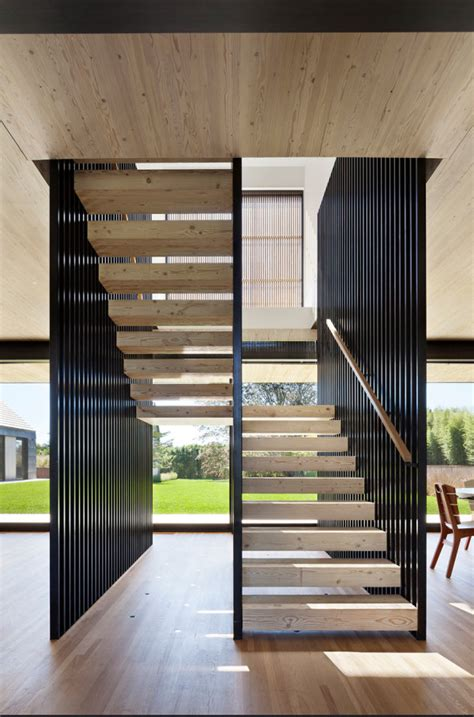 house interior column designs stairs pinned by www modlar modern htons home with barn influence potatoes