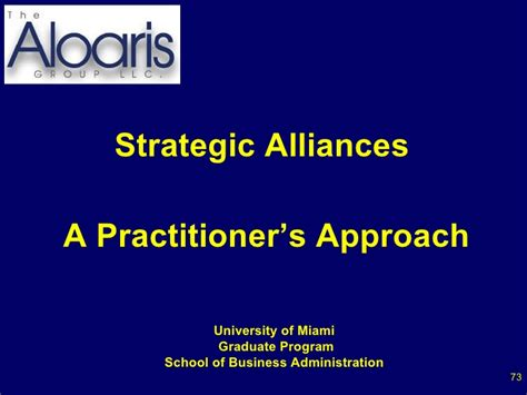 Um Mba Application by Strategic Alliances A Practitioners Approach