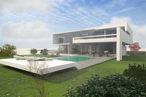 moderne villa mit pool im bauhaus design moderne villa