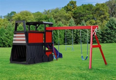 train swing set playhouse swing set plans wooden train plans http
