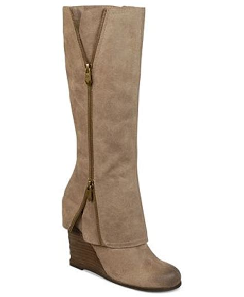fergie fresh wedge boots shoes macy s