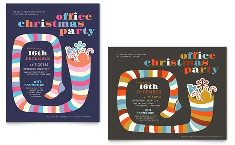 design poster using microsoft office christmas party poster template word publisher