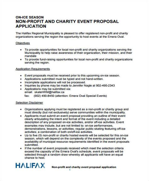 43 event proposals in pdf